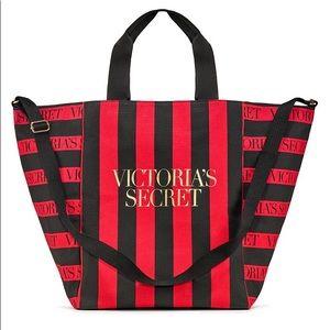 Victoria's Secret Red Stripe Weekender Tote